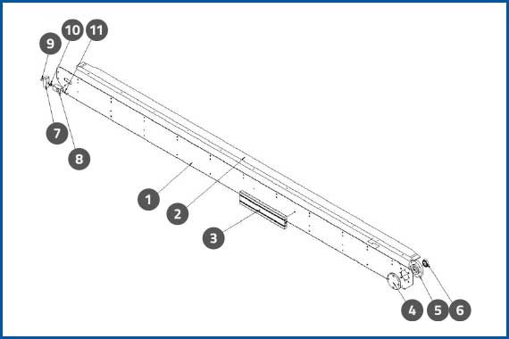 PRO-625W_ConveyorFrontSidePlateAssembly