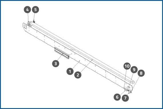 PRO-625W_ConveyorRearSidePlateAssembly