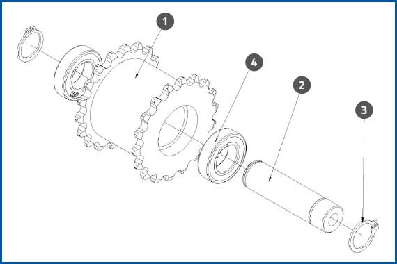 PRO-625W_DrivenChainRollerSet1Assembly