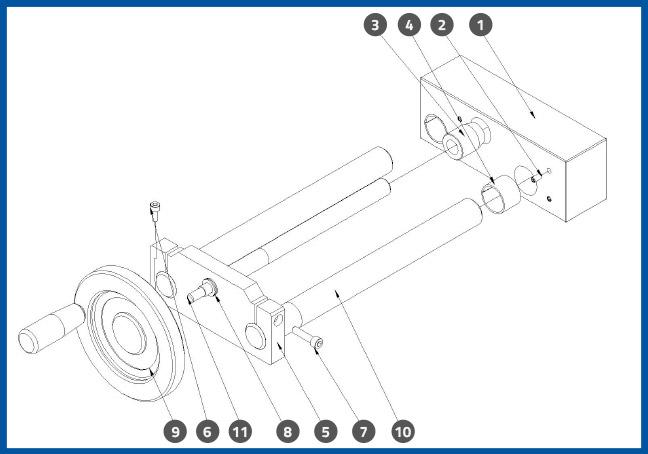 PL-501-6_PressurePlateFrontBackAdjustmentAssembly_diagram