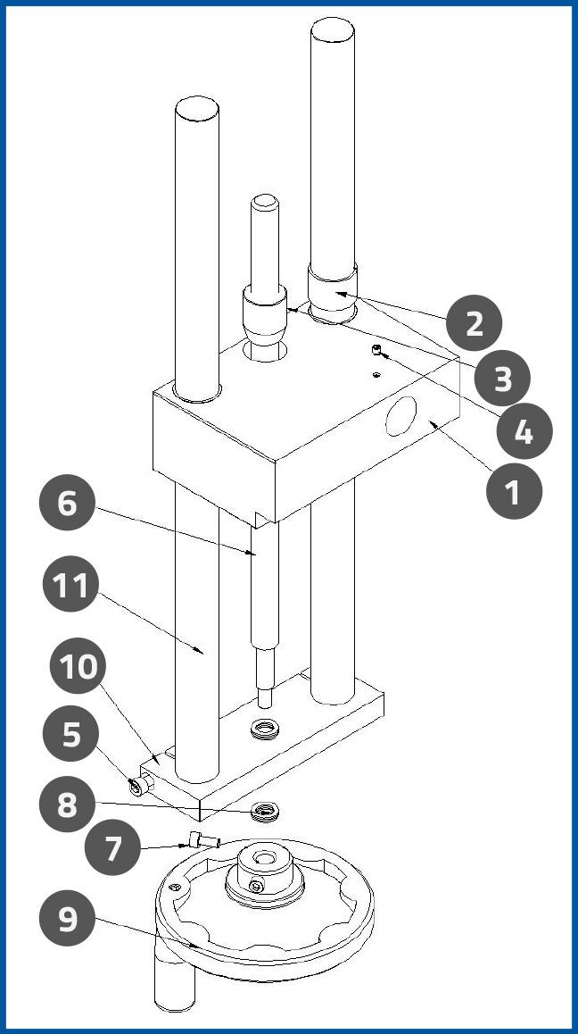 PL-501-6_PressurePlateUpDownAdjustmentAssembly_diagram