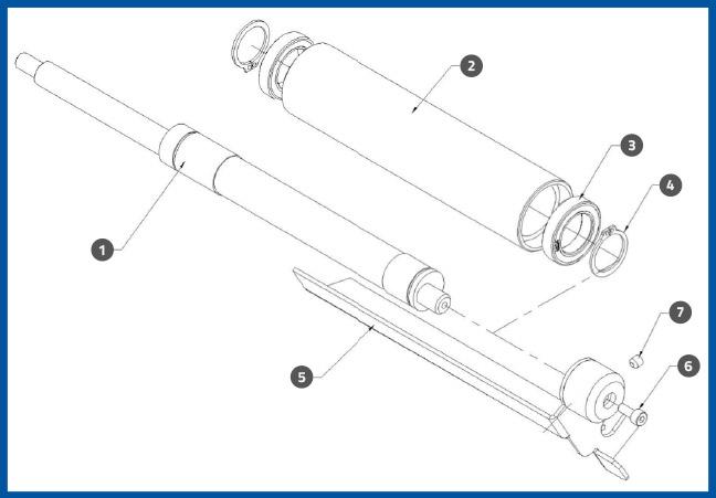 PL-501_AluminumKnurledRollerAssembly_diagram