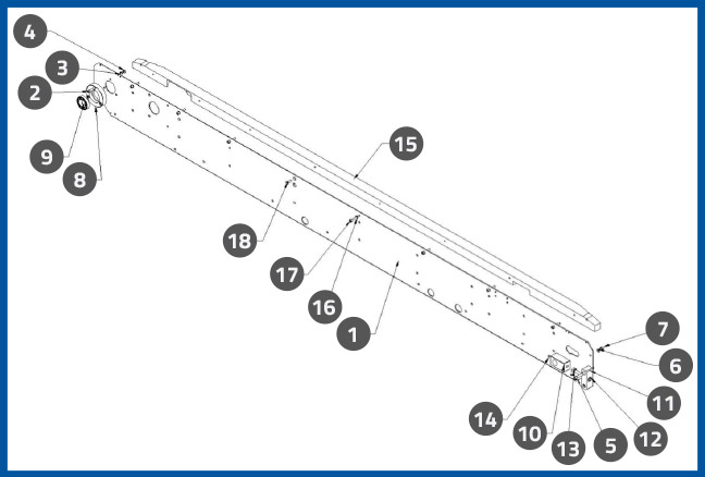 PL-501_ConveyorBackSidePlateAssembly_diagram