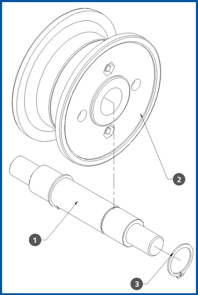 PL-501_ConveyorDrivenPulleyAssembly_diagram