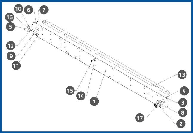 PL-501_ConveyorFrontSidePlateAssembly_diagram
