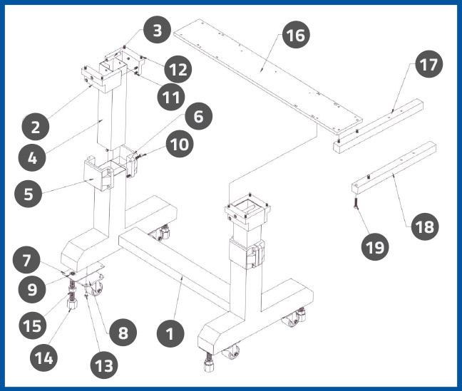 PL-501_FootStandAssembly_diagram