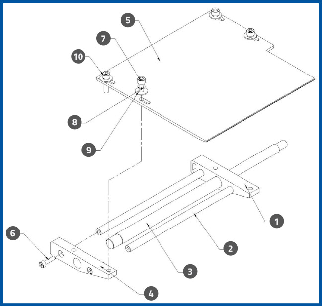 PL-501_LabelPeelPlateAssembly_diagram