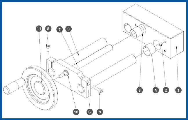 PL-501_PressurePlateFrontBackAdjustmentAssembly_diagram