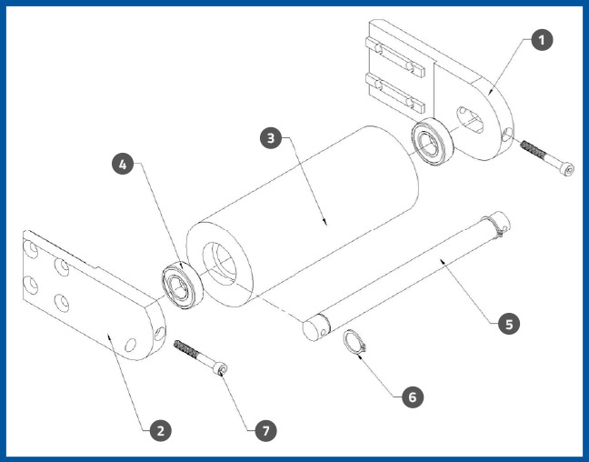 PL-501_WrapStationDrivenPulleyAssembly_diagram