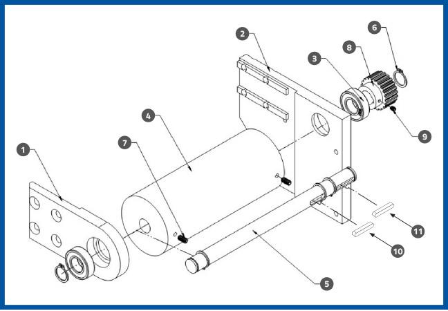 PL-501_WrapStationDrivingPulleyAssembly_diagram