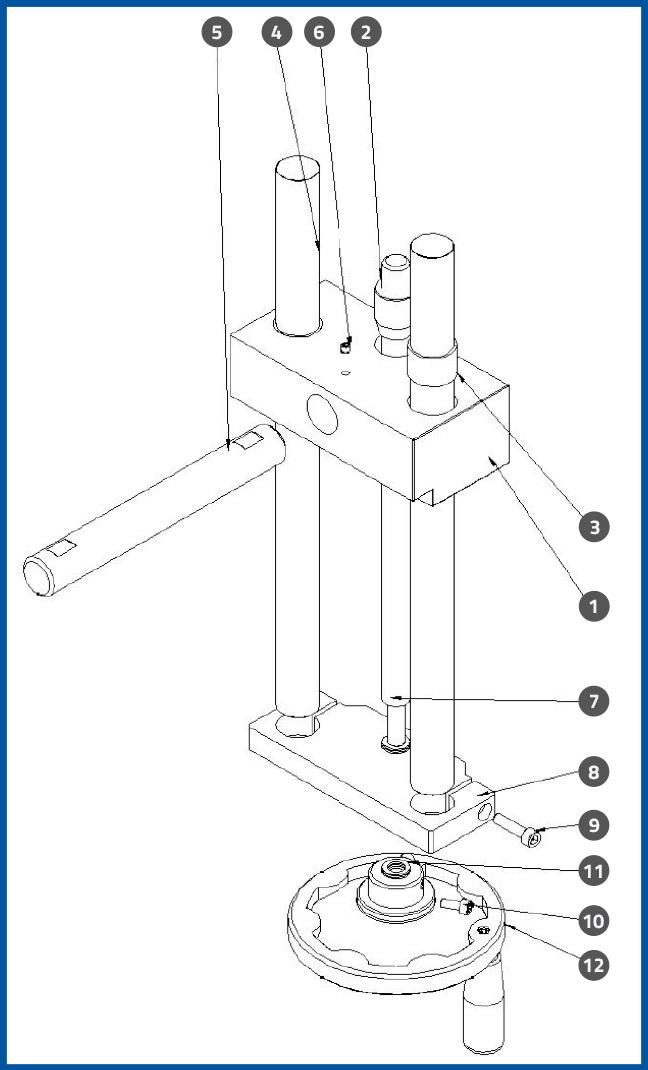 PL-501_WrapStationUpDownAdjustmentAssembly_diagram